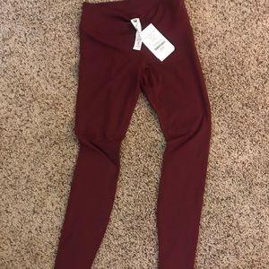 Size 4 fabletics deep red leggings